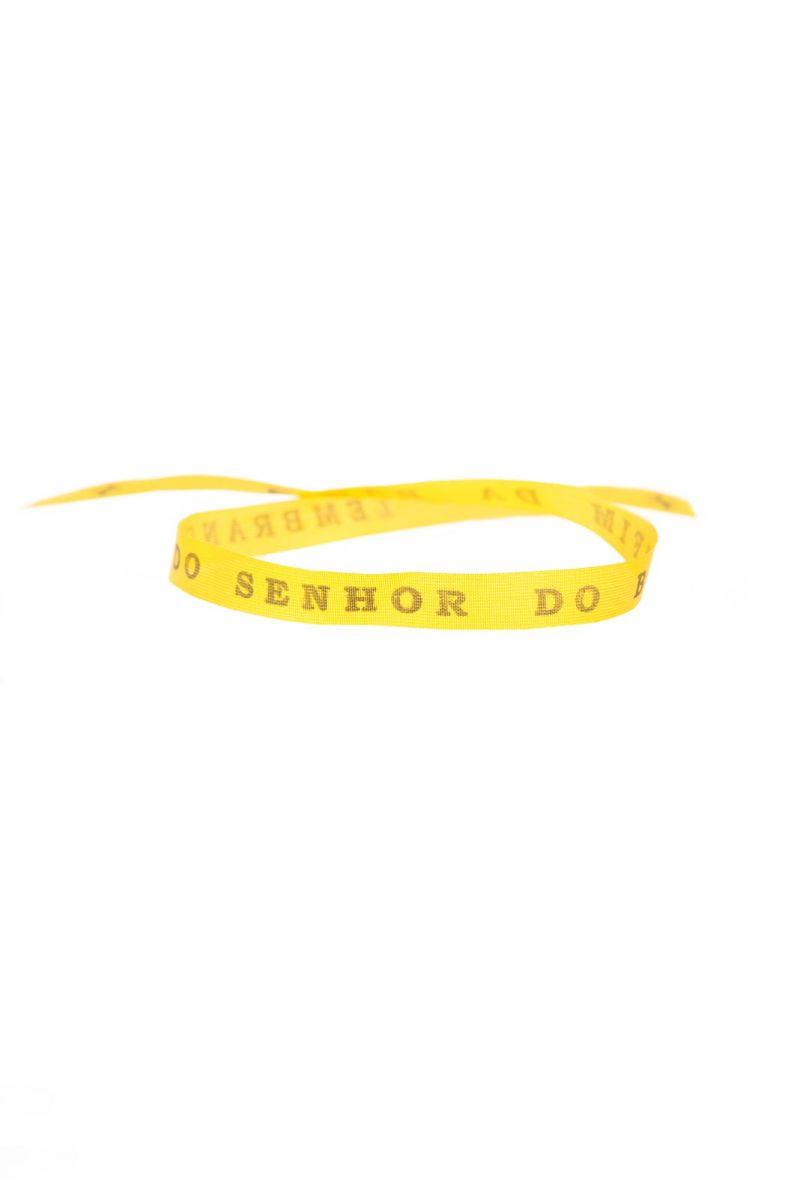 Senhor do Bonfim wish ribbon Amarelao